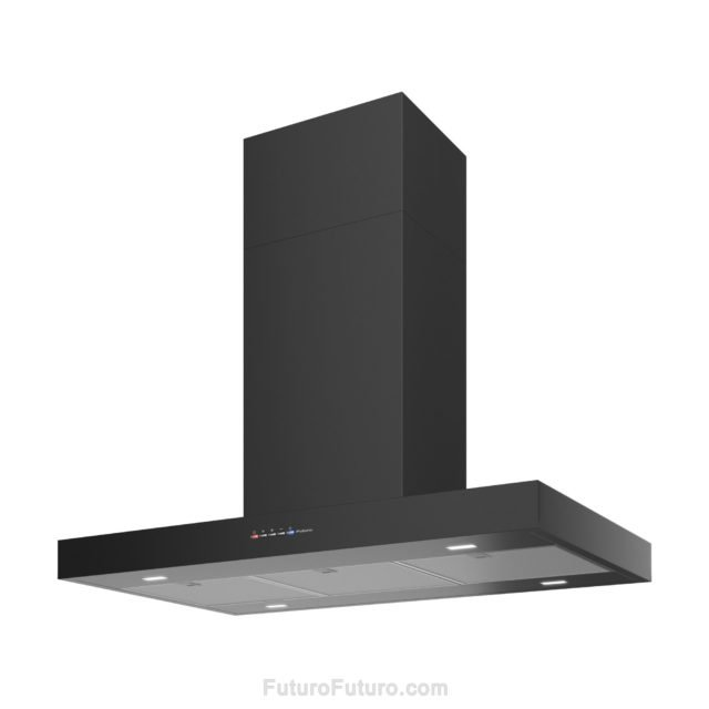 Kitchen black range hood | Black vent hood