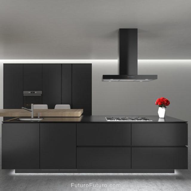 Kitchen lights island range hood | Black kitchen under cabinet lighting range hood