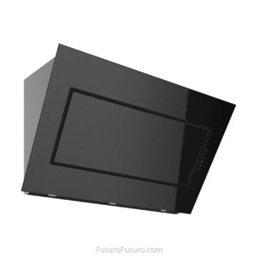 Black glass wall mount range hood | Kitchen vent hood