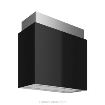 Luxury kitchen exhaust fan | Black and white kitchen wall mount range hood