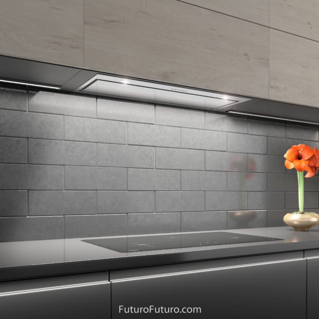Built-in modern kitchen hood | under cabinet kitchen exhaust hood