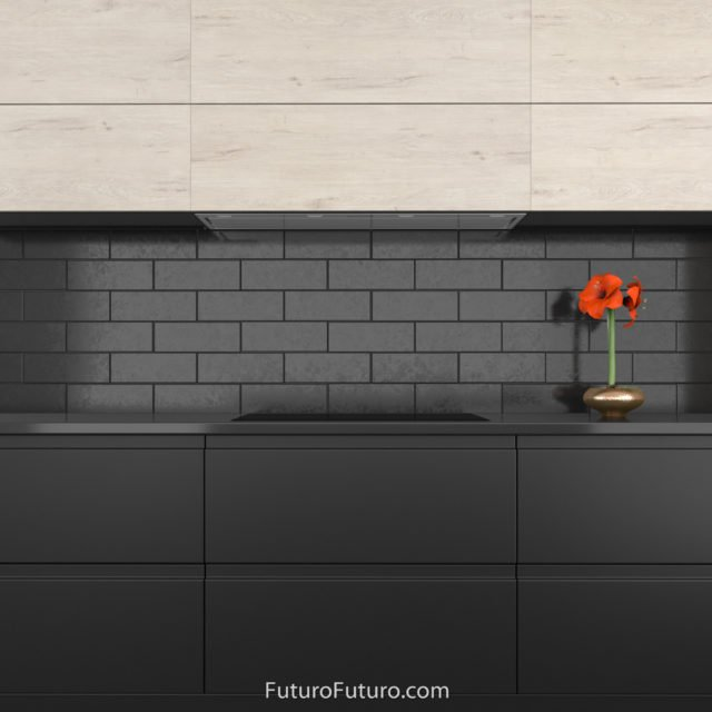 Black kitchen cabinets stove hood | premium kitchen range hood