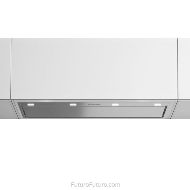 White kitchen ventless range hood | Modern kitchen fan