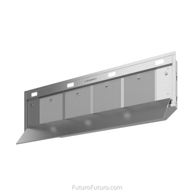 Mesh grease filters range hood | Powerful kitchen exhaust hood