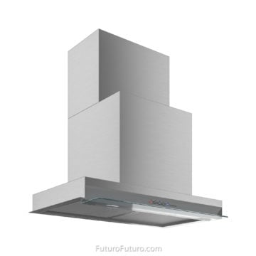 Modern kitchen lights stove hood | Stylish kitchen under cabinet vent hood