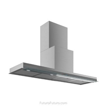 Kitchen oven hood | Stainless steel and glass under cabinet range hood