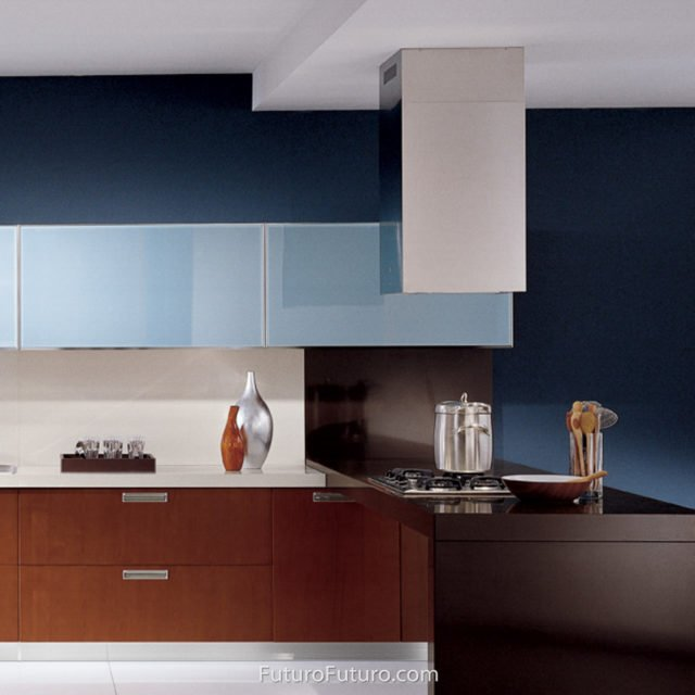 modern kitchen design island range hood | countertops stainless steel hood