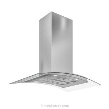 black kitchen cabinets island range hood | stainless steel hood