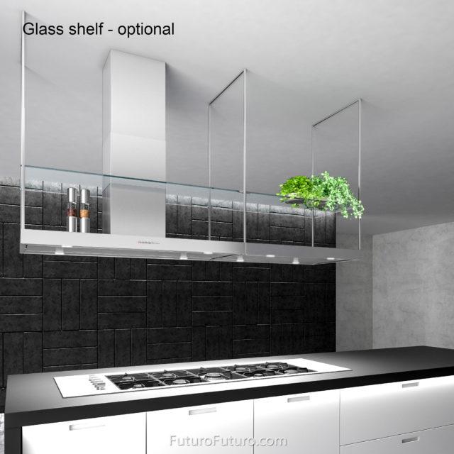 Stainless steel kitchen hood - 84-inch Europe Island range hood - Futuro Futuro range hoods