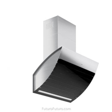 White kitchen cabinets wall mount range hood | Contemporary range hood