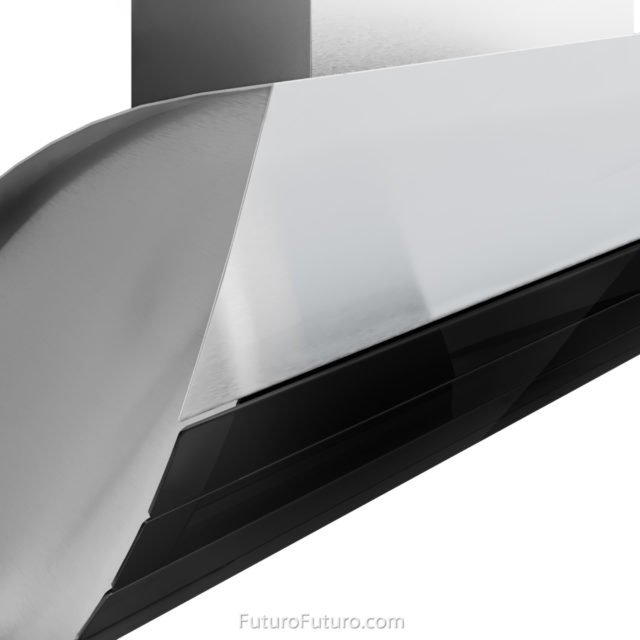 Black kitchen hood - 30 inch Shadow Black Wall range hood - Futuro Futuro range hoods