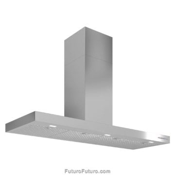 Gray kitchen range hood | Induction cooktop range hood