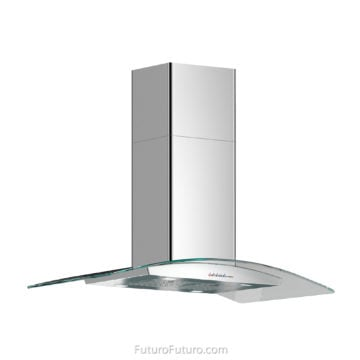 Modern kitchen island hood Black kitchen ceiling mount range hood