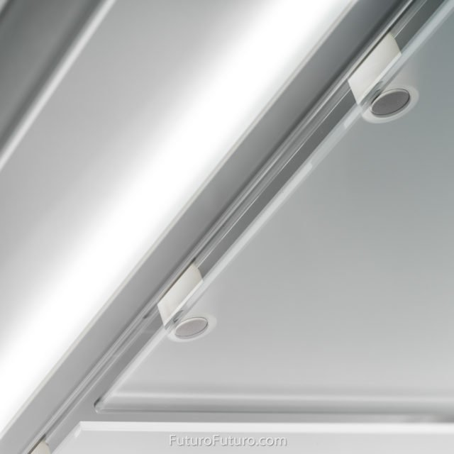 Magnet glass panel vent hood | Modern kitchen fan