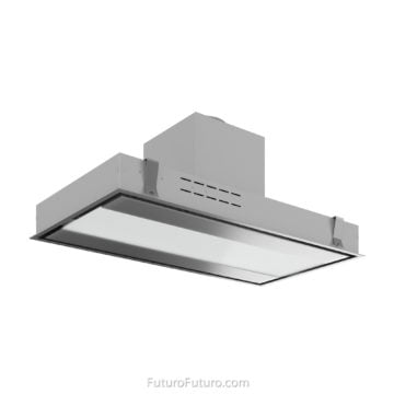 White kitchen cabinets stove hood | Premium kitchen range hood