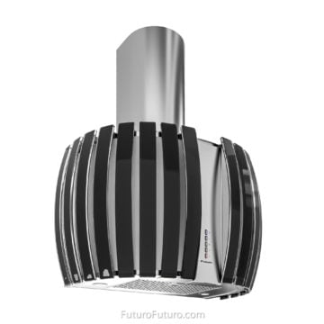 Designer glass wall mount vent hood | Luxury kitchen range hood