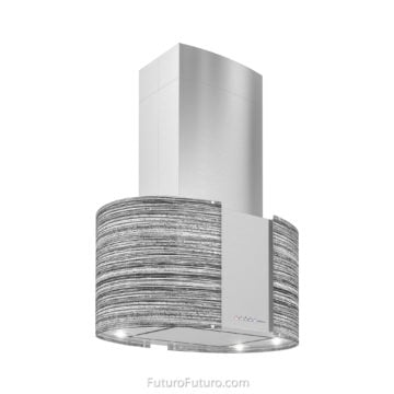 Illuminated stove hood | Modern kitchen range hood