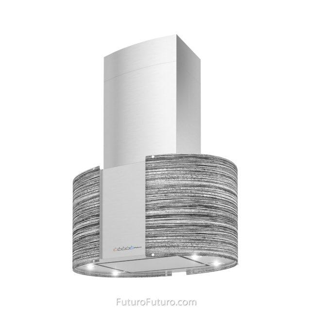 Gray glass kitchen vent hood | Contemporary range hood