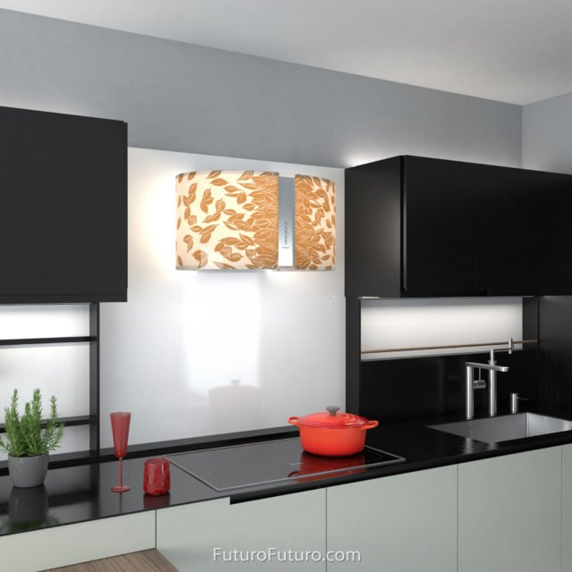 Modern kitchen cabinets ductless range hood | Contemporary ventless range hood