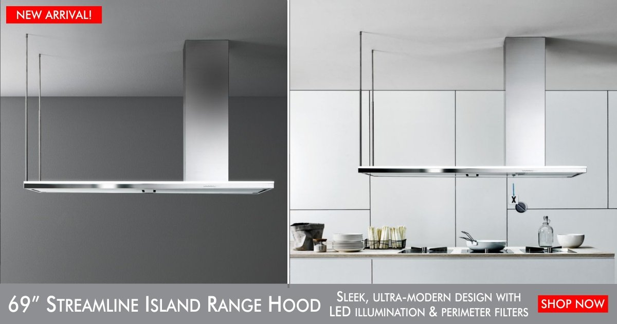 New Arrival: 69 inch Streamline Island – Contemporary Range Hood