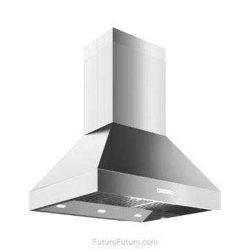 Quartz countertop island range hood | Modern island vent hood