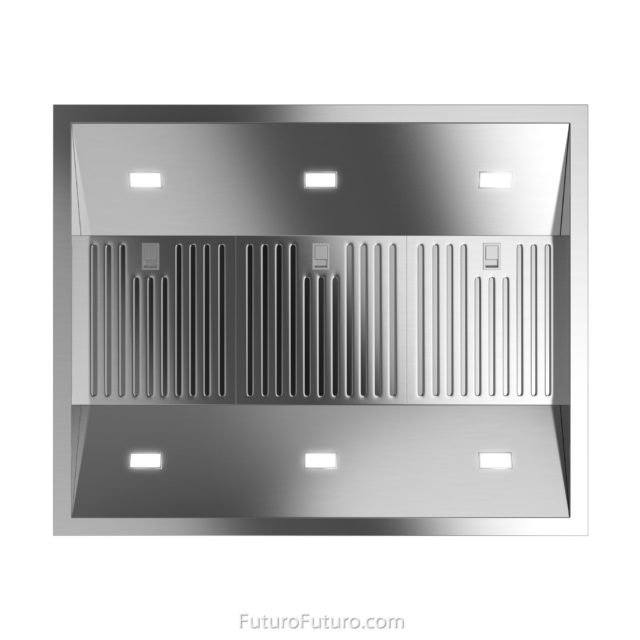 Industrial quality filtration kitchen fan | stainless steel range hood