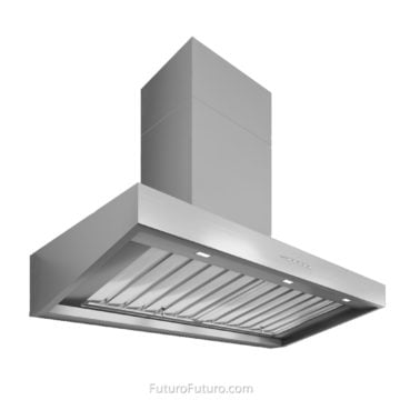 Induction cooktop kitchen range hood | Contemporary kitchen vent hood