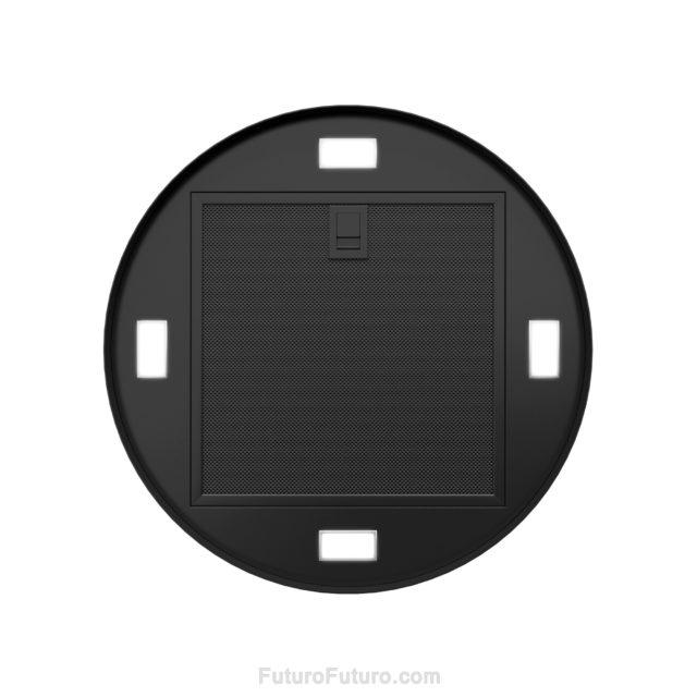 Black painted steel kitchen fan | metal grease filters oven hood