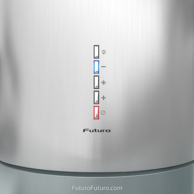control panel kitchen fan | stainless steel hood
