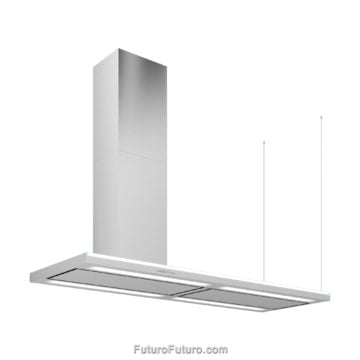Best ductless range hood | Left-handed 69-inch Streamline kitchen hood | modern oven hood