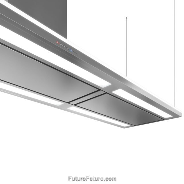 940-CFM Island-Mount Range Hood | Streamline Left-Handed kitchen exhaust fan