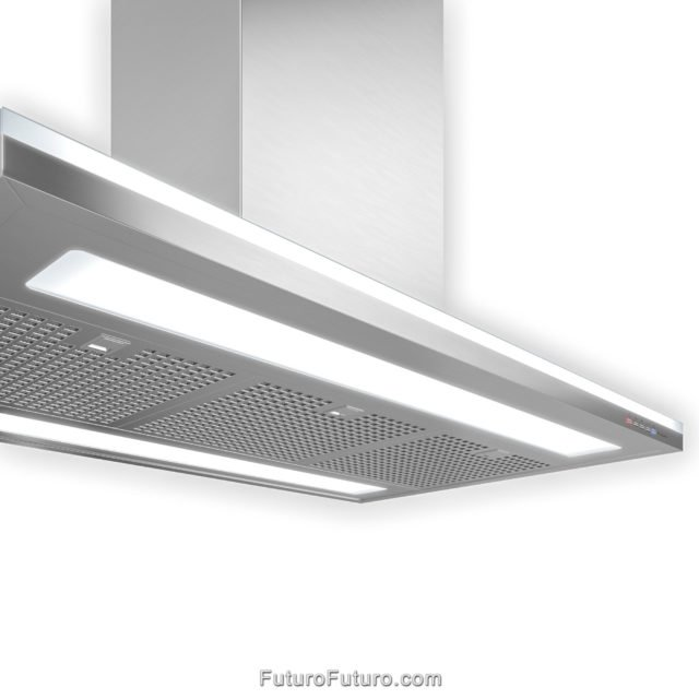 Energy efficient fluorescent lights range hood | Classic shape vent hood