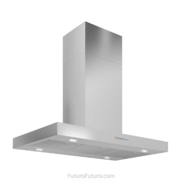 Ceiling mount range hood | Black kitchen stainless steel range hood