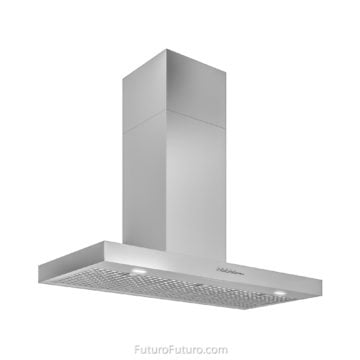 Italian designer wall mount range hood | Wall mounted stainless steel hood