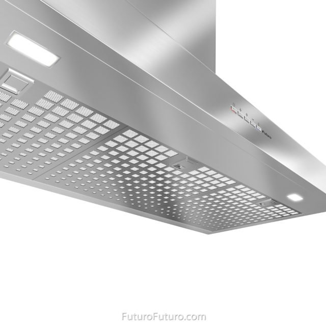High grade stainless steel range hood | Stainless steel grease filters