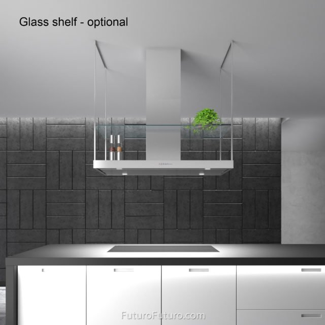 Designer island vent hood | Contemporary kitchen hood vent