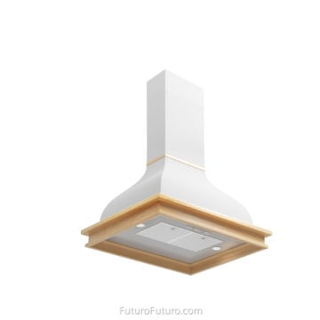Traditional kitchen ceiling mount range hood | kitchen island hood