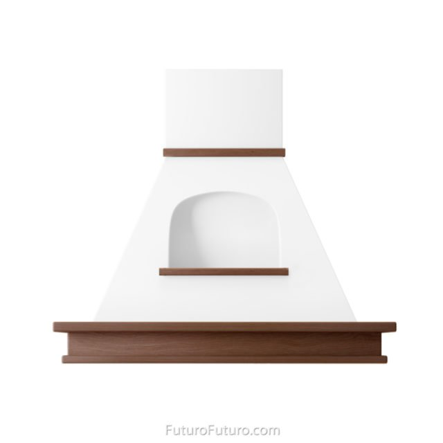 Traditional wall mount range hood | ventless wood vent hood