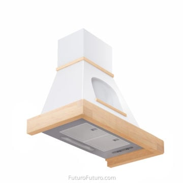 Traditional kitchen hood with wood trim - 36 inch Cambridge Wall range hood - Futuro Futuro range hood