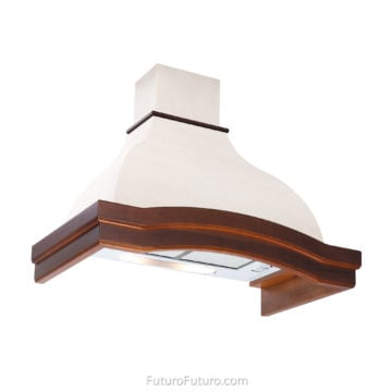 wood kitchen wall mount range hood | wall mount vent hood