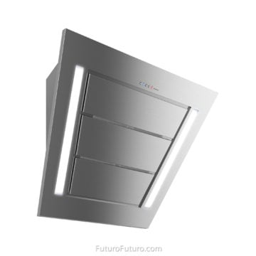 Designer diagonal kitchen hood - 36 inches Diamond Wall range hood - Futuro Futuro range hoods