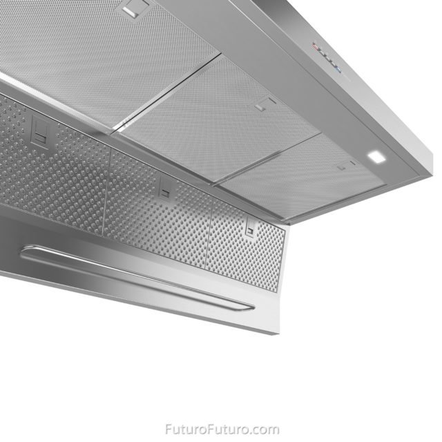 Professional style stainless steel style range hood | Metal mesh grease filters vent hood