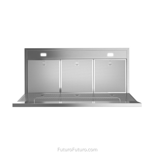 Dishwasher safe filters range hood | Stainless steel hood