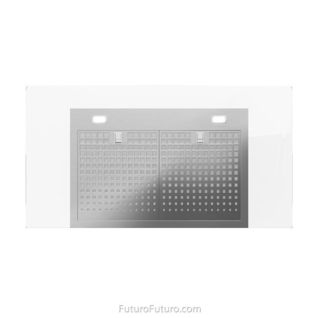 High grade stainless steel and glass range hood | Stainless steel grease filters