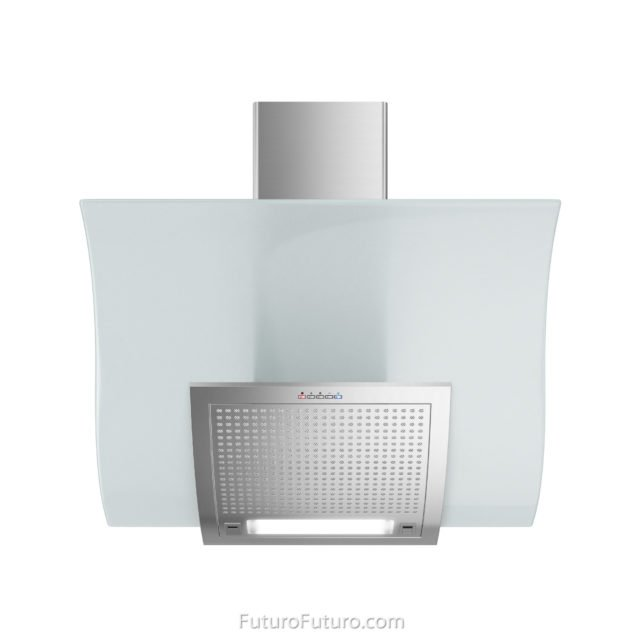 Curved glass kitchen range hood | Contemporary kitchen hood