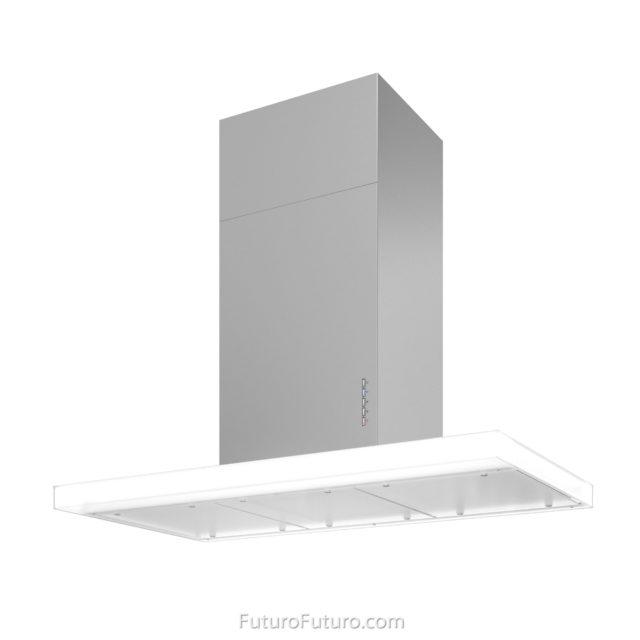 White glass kitchen hood - 36 inch Luxor Wall range hood - Futuro Futuro range hoods