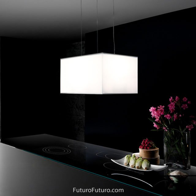 LED illuminated range hood | Kitchen lights island range hood